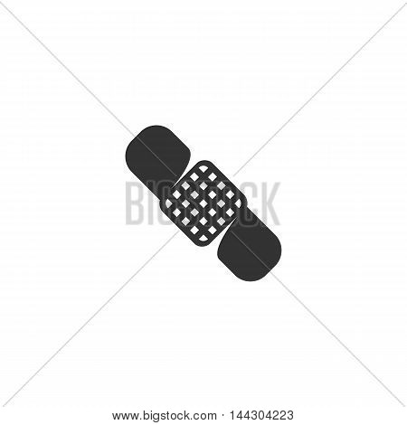 Vector Medical bandage icon isolated on a white background. Medical bandage logo in flat style. Simple icon as element for design. Vector symbol, sign, pictogram, illustration