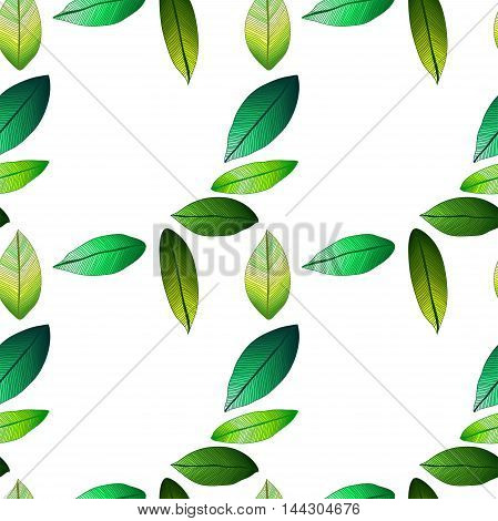 Seamless vector pattern with spring leaves. Warm. Foliage
