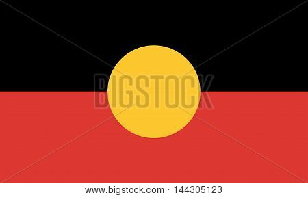 The flag of the Australian Aboriginal people