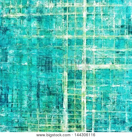 Grunge abstract textured background, aged backdrop with different color patterns: gray; green; blue; white; cyan