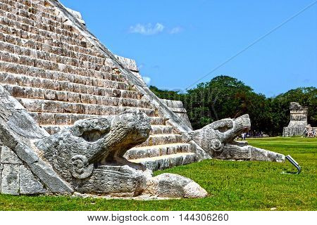 A beautiful view of Chichen Itza. MEXICO.