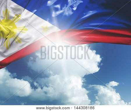 Philippines flag on a beautiful day