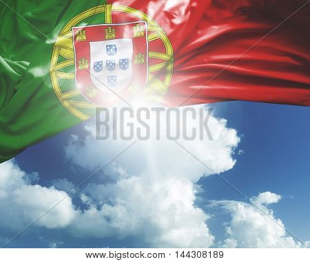 Portugal flag on a beautiful day