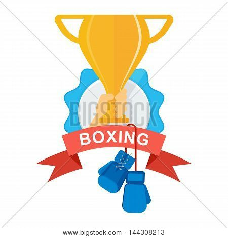 Gold Cup With Boxing Gloves
