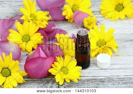 Essential oil from sweet smelling flowers also known as oil of the plant
