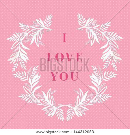 I love you greeting card design.