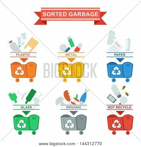 Elements for sites, advertising brochures, flayers, posters and info graphics. Flat cartoon vector illustration. Objects isolated on a white background.