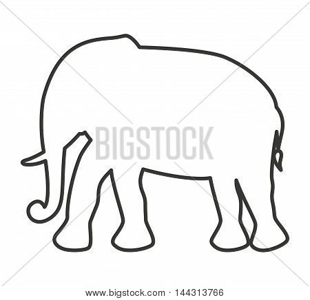 cute elephant animal tender isolated icon vector illustration design