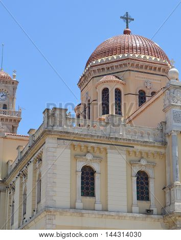 Saint Minas Cathedral in Heraklion, Crete Greece