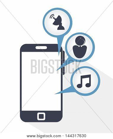 social media communication icon vector illustration graphic
