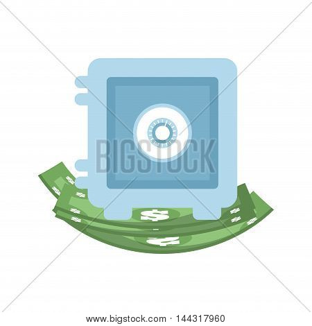bill green strongbox money financial item commerce market icon. Flat and Isolated design. Vector illustration