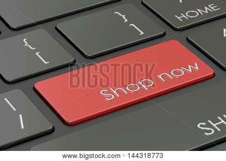 shop now button red hot key on keyboard 3D rendering