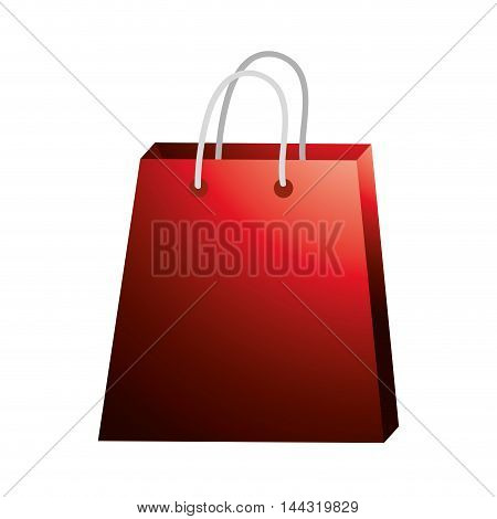 shopping bag red commerce market store icon. Flat and isolated design. Vector illustration