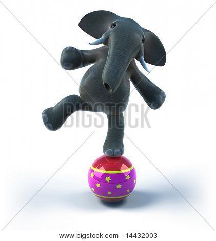 Elephant on a balloon