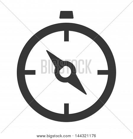 chronometer instrument time silhouette icon. Flat and isolated design. Vector illustration