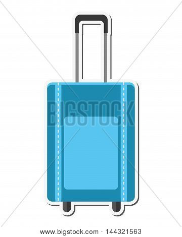 bag baggage luggage travel trip icon. Flat and isolated design. Vector illustration