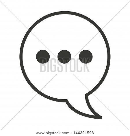 speech bubble social media isolated icon vector illustration, eps10
