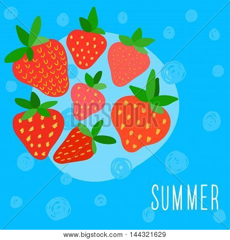 Summer Time Card Template.
