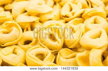 tortellini italian food on a white background