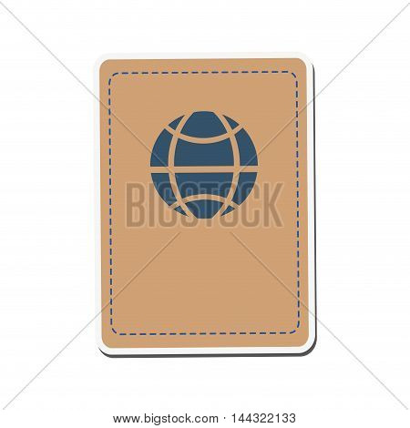 passport travel trip tourism icon. Flat and isolated design. Vector illustration