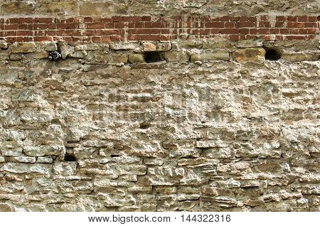 Texture, background. old brick wall, brick blurred precipitation and wind