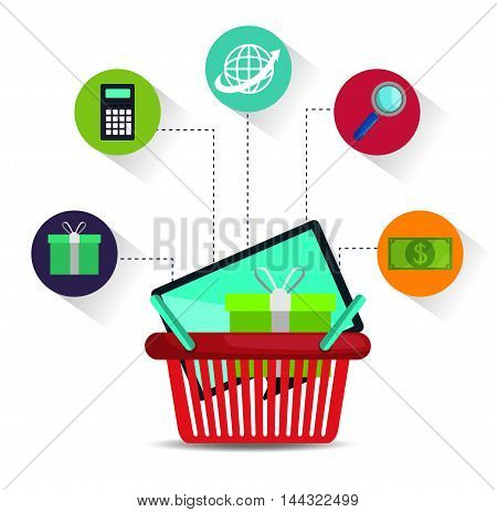 electronic commerce marketing icon vector illustration graphic