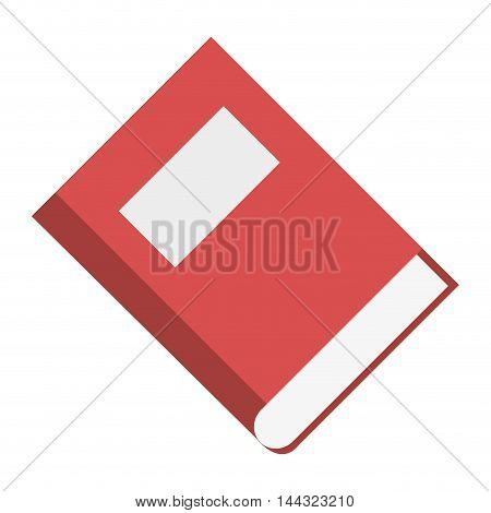 book close knowledge label read icon. Flat and isolated design. Vector illustration