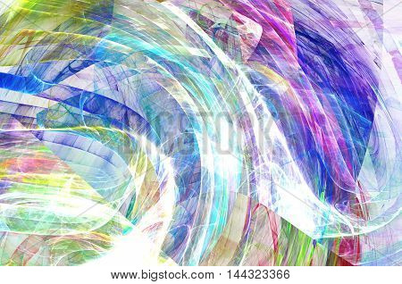 Abstract Fractal art with colorful dynamic background with lighting effect.
