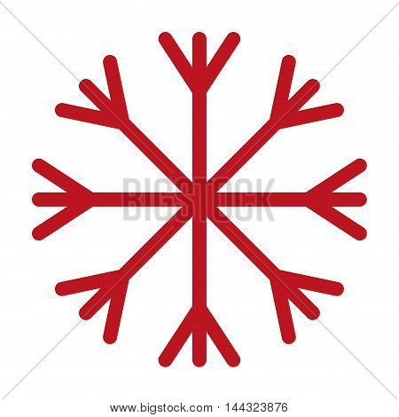 snowflake christmas isolated icon vector illustration design