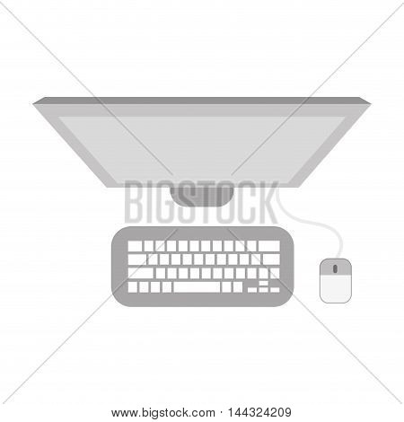 computer technology gadget electronic icon. Flat and isolated design. Vector illustration
