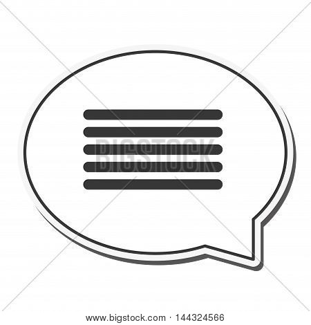 bubbles lines communication message email icon. Flat and isolated design. Vector illustration