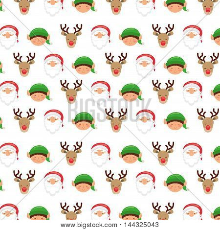 christmas background pattern icons vector illustration design