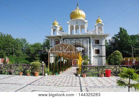 Sikh temple in Srinagar in Kashmir, India