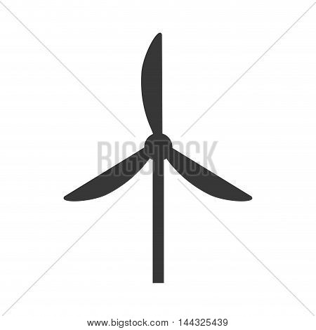 windmill  power energy electricity icon. Flat and isolated design. Vector illustration