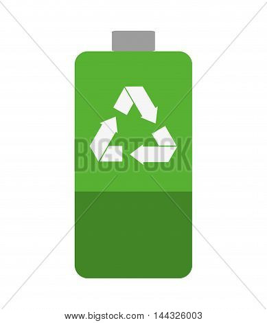 battery recycle power energy charge level  icon. Flat and isolated design. Vector illustration