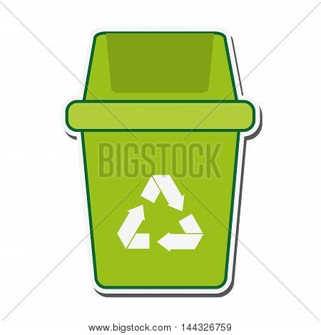 recycle trash eco ecology organic natural protection icon. Flat and isolated design. Vector illustration