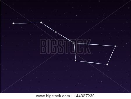 Big Dipper Ursa Major sky constellation illustration