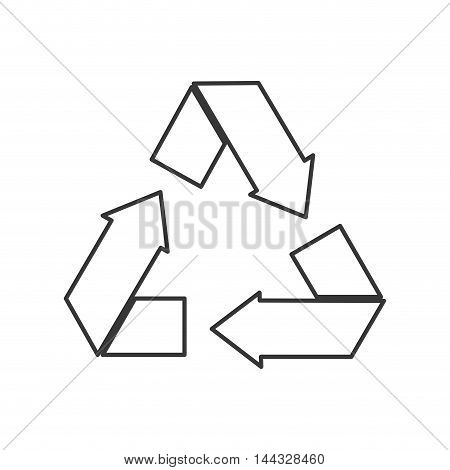 recycle eco ecology organic natural protection icon. Flat and isolated design. Vector illustration