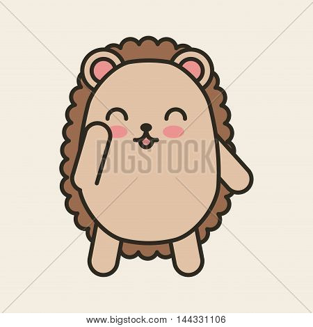 cute purcopine tender isolated icon vector illustration design