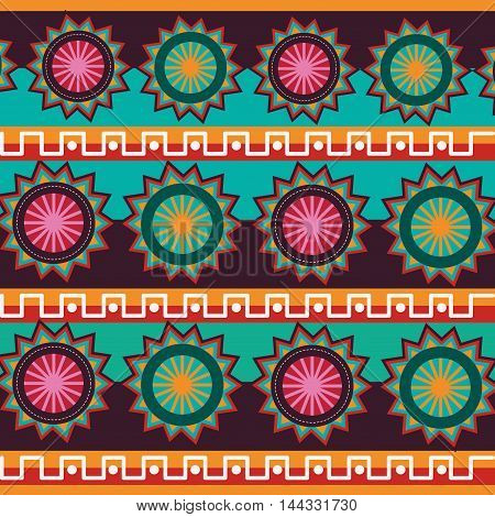 tribal mexican art paint ethnic decoration icon. Background design. Vector illustration