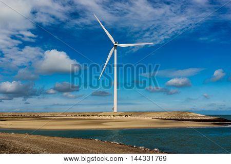 Wind Turbine Near The North Sea
