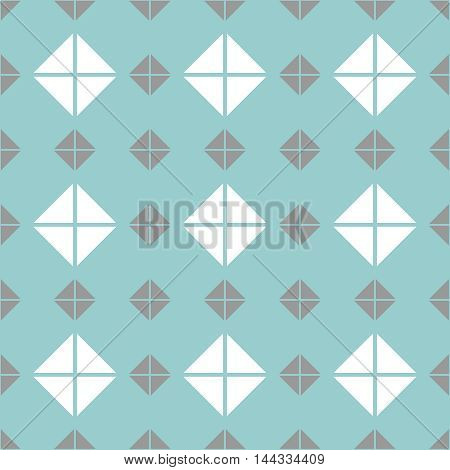 Tile mint green, grey and white vector pattern or website background