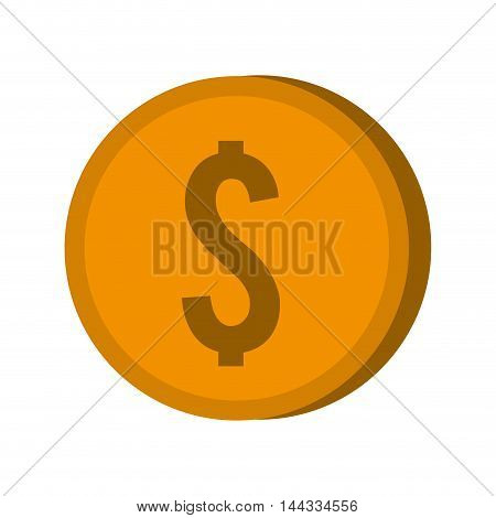 coin money financial commerce market icon. Flat and isolated design. Vector illustration