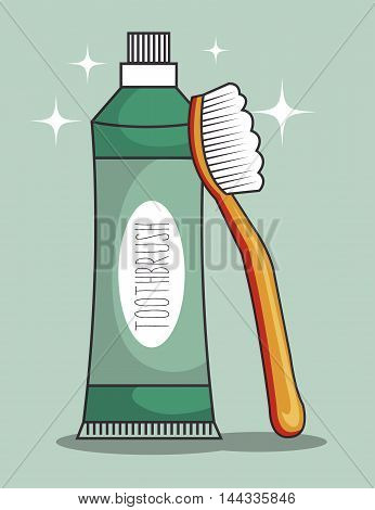 toothpaste product character icon vector illustration graphic