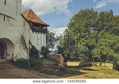 Fortified Church Tower And Entrance Gate