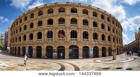 Plaza de Toros bullring in Valencia, summer Spain