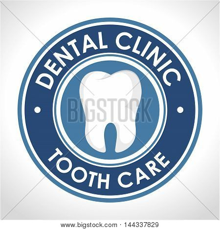 dental clinic seal icon vector illustration graphic