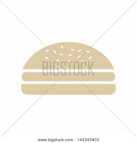 hamburger snack lunch fast food icon. Flat and Isolated design. Vector illustration