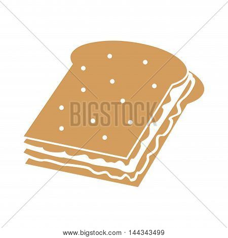 sandwich snack lunch fast food icon. Flat and Isolated illustration. Vector illustration