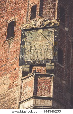 Sundial at the Gdansk City Hall - Poland